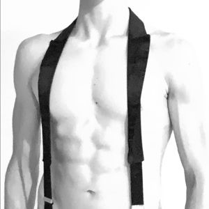 Other - Suspenders with tuxedo style collar.